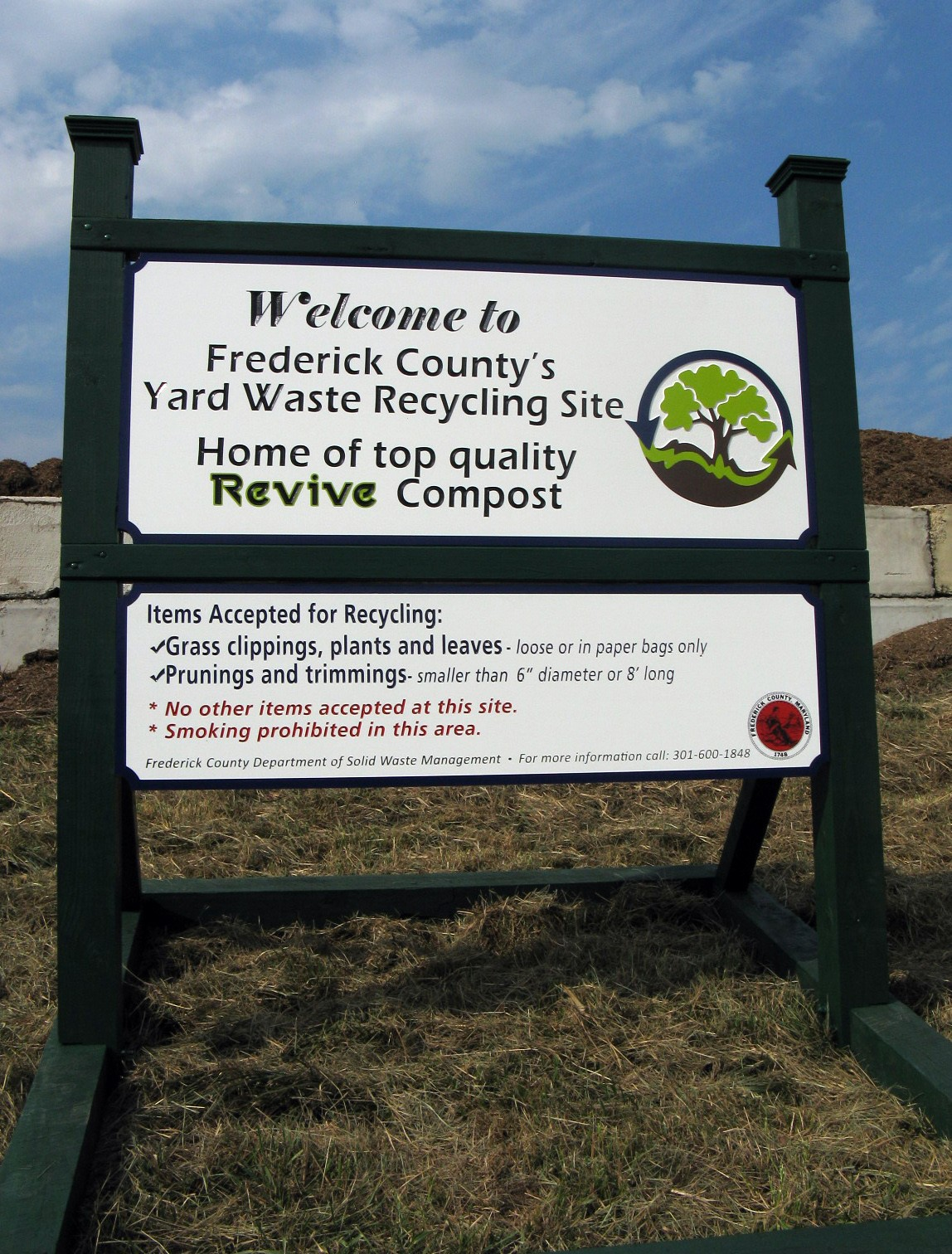 Yard Waste Site Sign