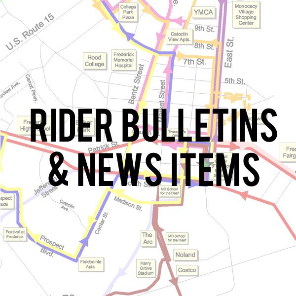 Rider Bulletins and News