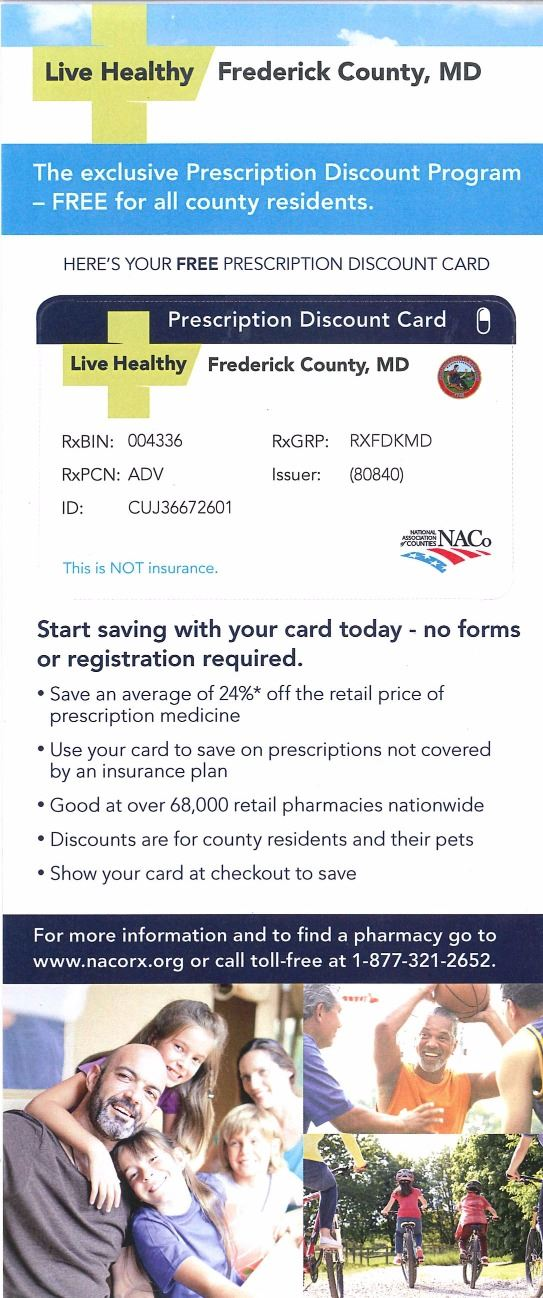 frederick county prescription discount card - Free Prescription Card