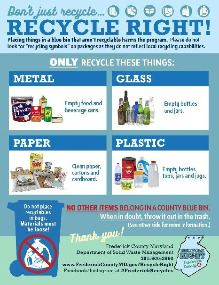 2019 Recycling Flyer page 1
