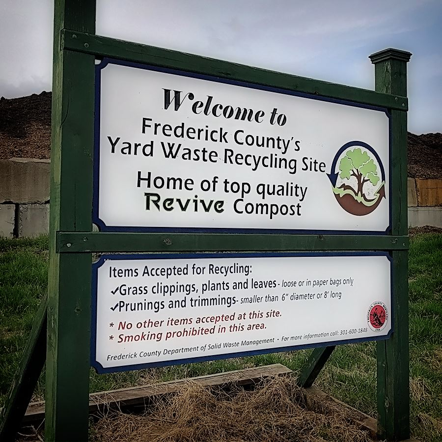 Yard Waste Recycling Site Sign