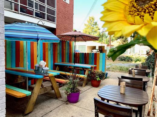 Image of downtown Frederick outdoor dining space