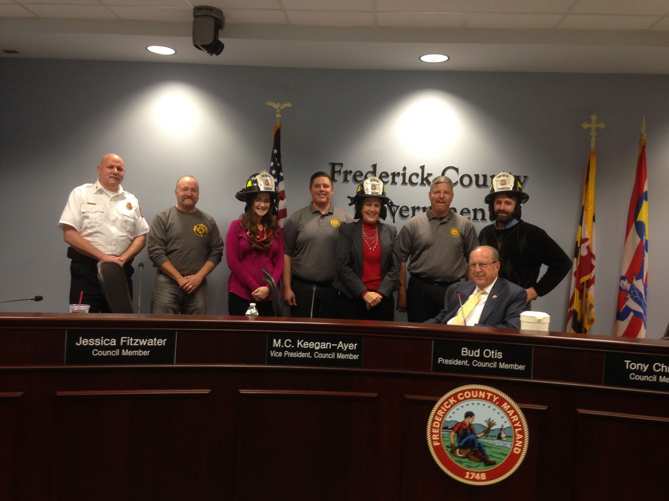 Council Member Fitzwater and Fire Dept.